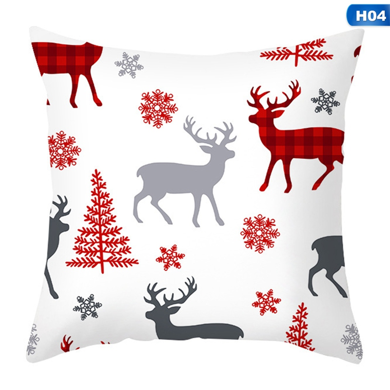 kaboer 18 x18 throw pillow covers christmas decorative couch pillow cases peach skin square pillow cushion cover for sofa couch bed and car