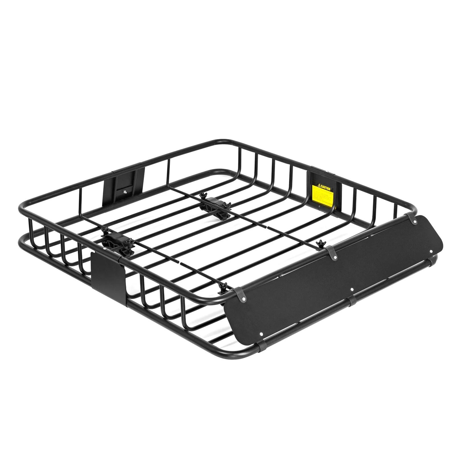 direct aftermarket powder coated steel cargo roof rack top luggage holder carrier basket travel 44 x 39 x 6 high side