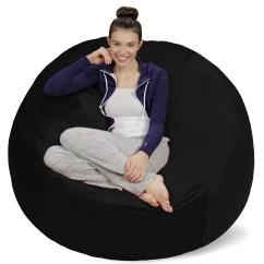 Foam Bean Bag Chair Ruffled Cushion Covers Sofa Sack Memory 5 Ft Walmart Com