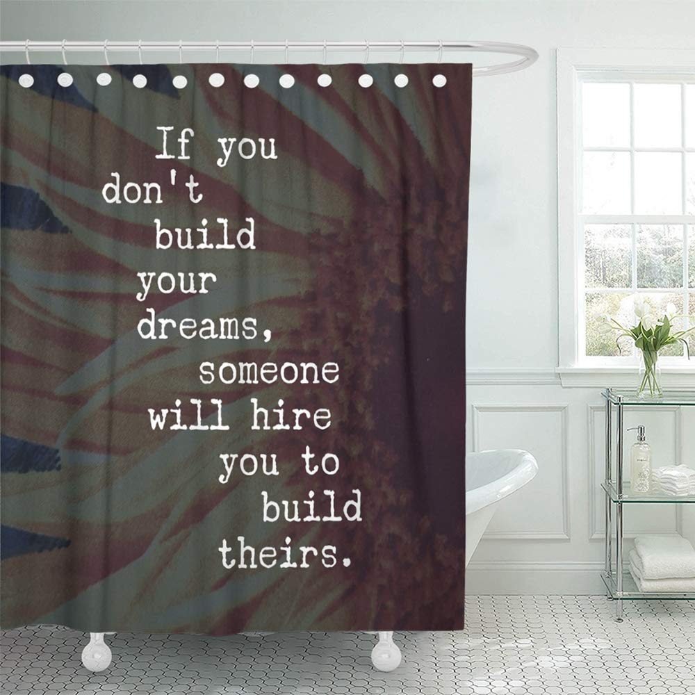 pknmt inspirational quote best motivational quotes sayings about life wisdom positive bathroom shower curtain 66x72 inch