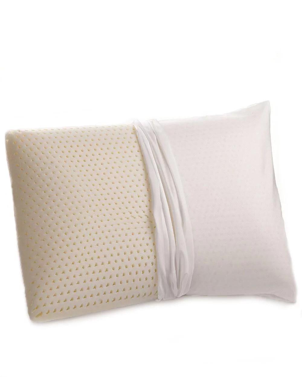 therapedic standard queen latex foam pillow walmart com