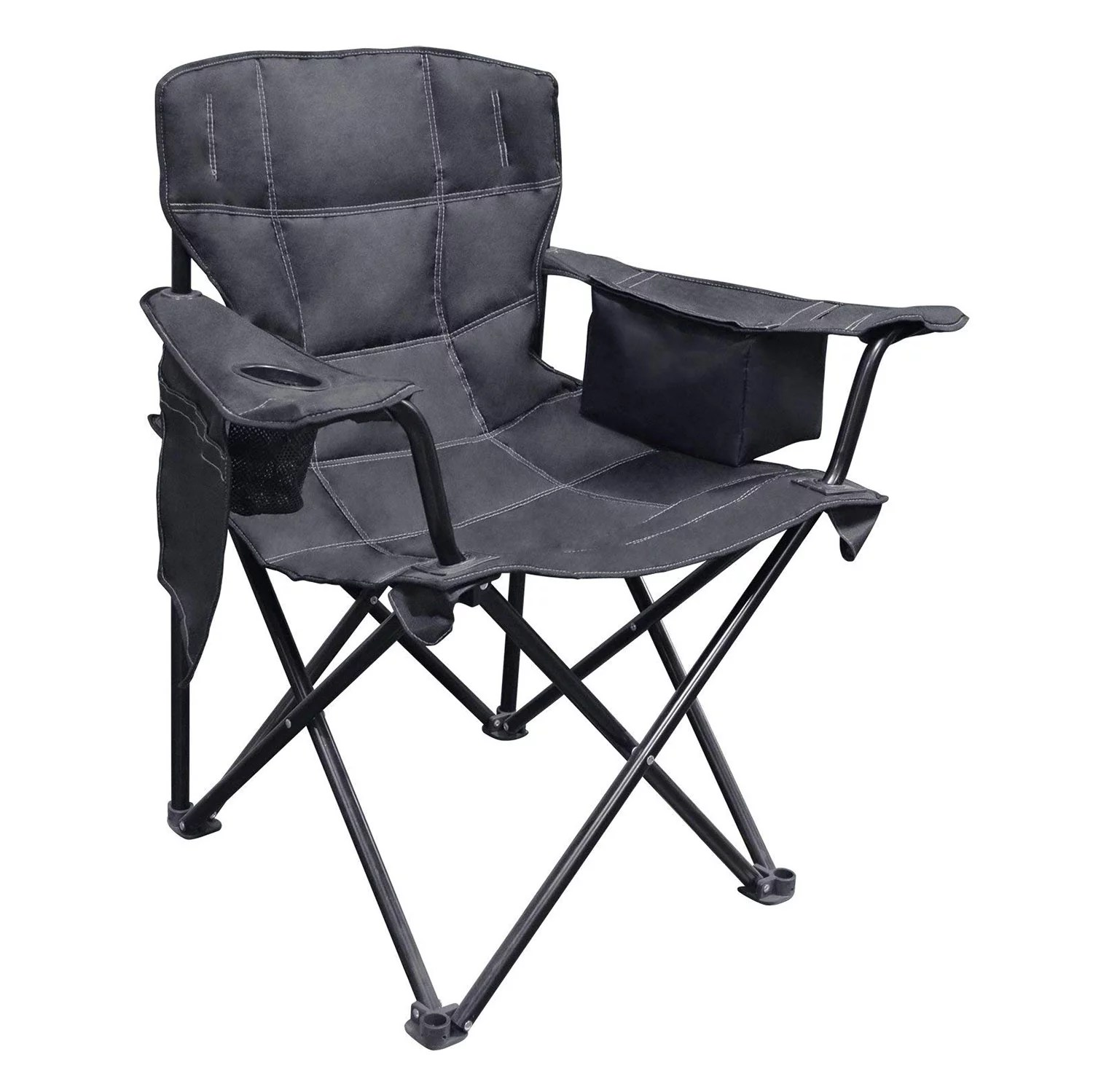 Camping Chair With Canopy Caravan Canopy Elite Quad Outdoor Camping Chair With Built In Cooler Black