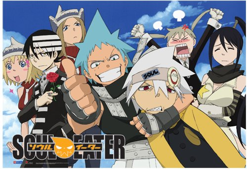 fabric poster soul eater new group sky background wall art ge77698