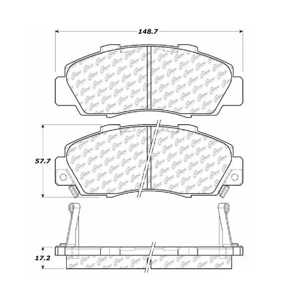 Rides2Racers Premium Semi-Met Pads w/Shim and Hardware