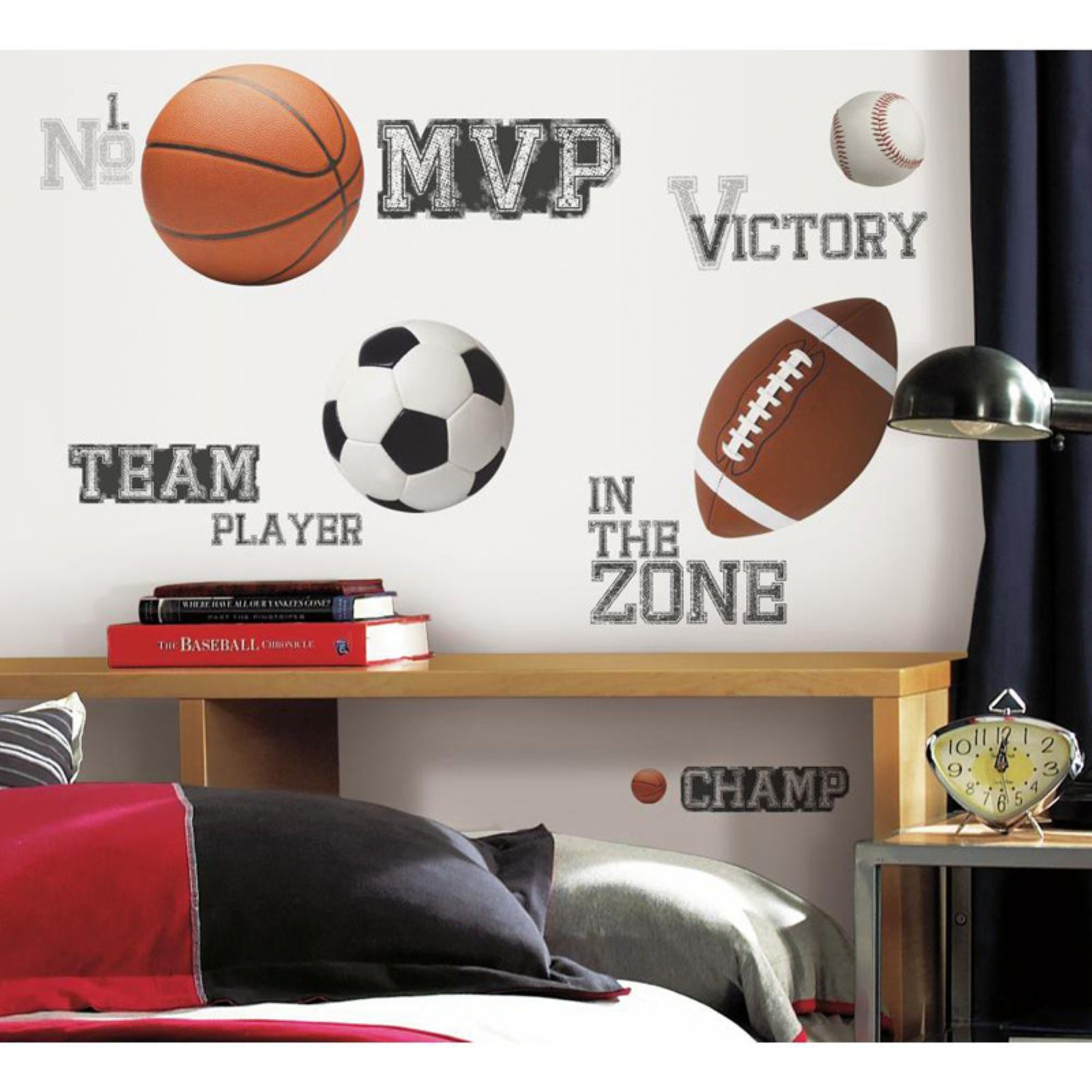 all star sports saying peel stick wall decals walmart