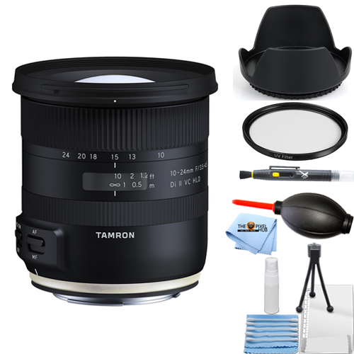 Tamron 10-24mm f/3.5-4.5 Di II VC HLD Lens for Canon EF STARTER BUNDLE