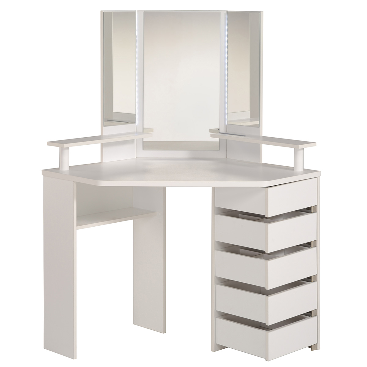 volage makeup table white walmart com walmart com