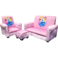 Disney Princess Hearts and Crowns Toddler Sofa, Chair and ...