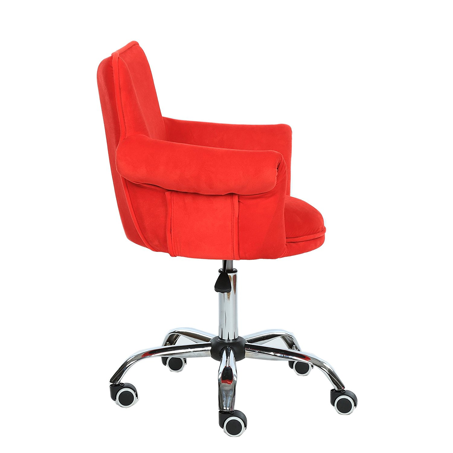 Red Desk Chair Magshion Deluxe Microfiber Office Desk Chair Bar Stool Beauty Nail Salon Spa Vanity Seat Red