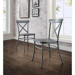 Distressed Black Dining Chairs Breuer For Sale Chair Silver Rustic Metal Set Of 2 Industrial Better Homes And Gardens Collin