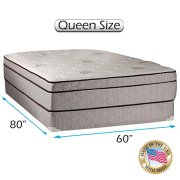 Fifth Ave Plush Foam Encased Eurotop Pillow Top Mattress And Box Spring Set