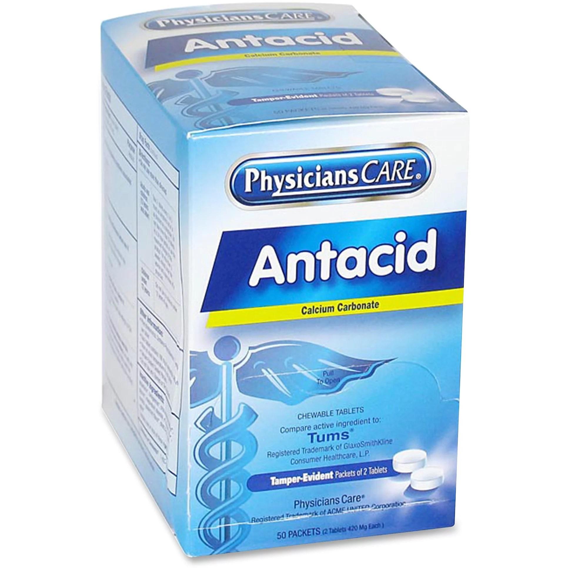 PhysiciansCare ACM90089 Antacid Medication Tablets 50 ...
