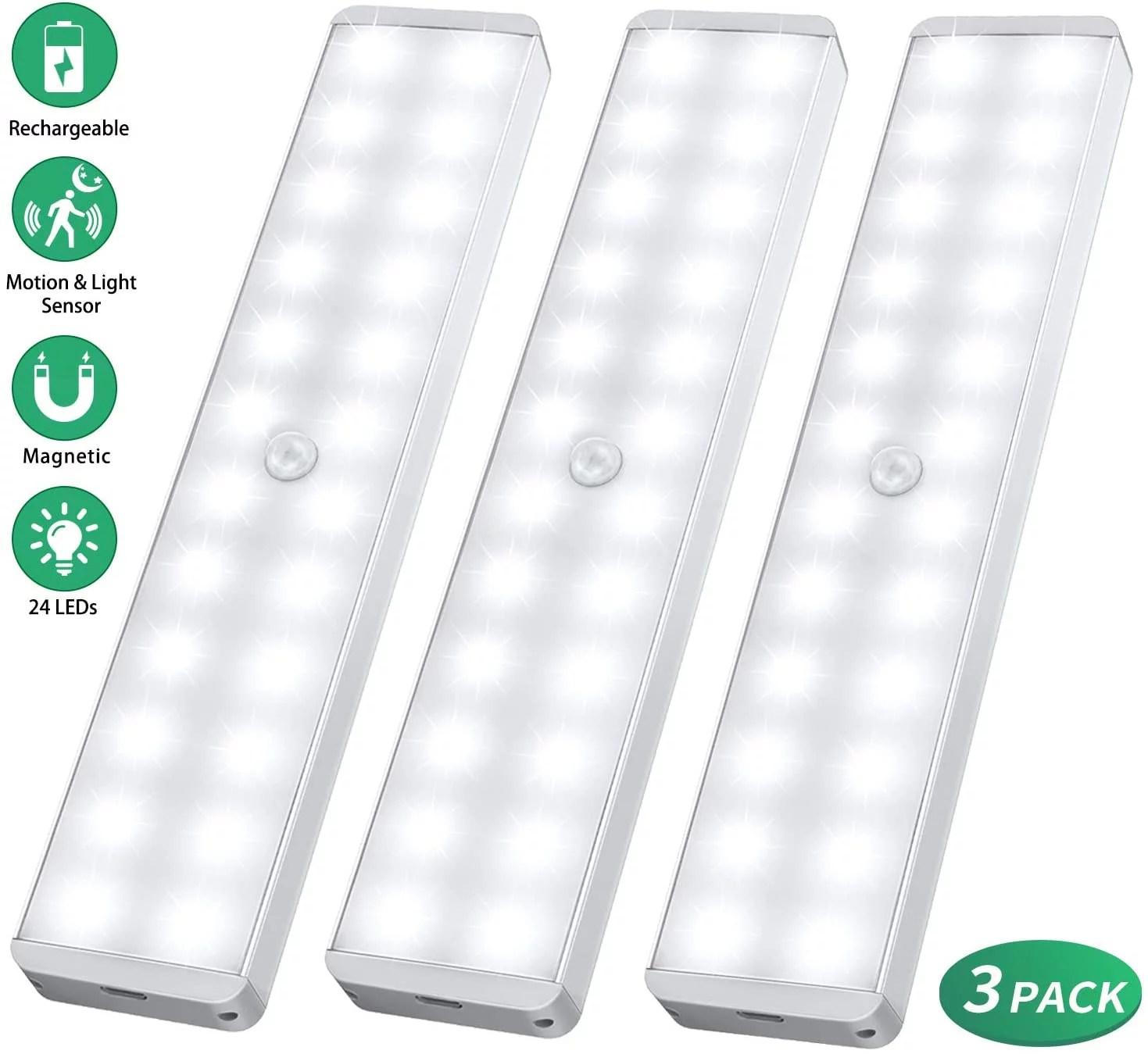 led closet light 24 led newest version dimmer motion sensor closet light under cabinet wireless night light bar suitable for stick anywhere