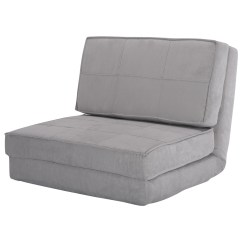 Walmart Fold Out Chair Moon Ikea Costway Down Flip Lounger Convertible Sleeper Bed Couch Game Dorm Guest (gray ...