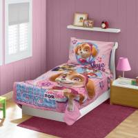 Paw Patrol SKYE 4-Piece Toddler Bedding Set - Walmart.com