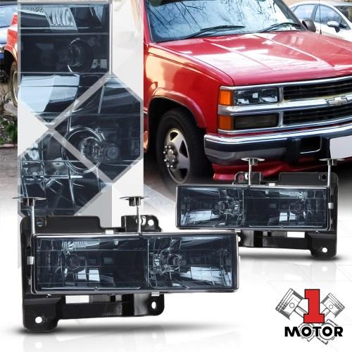 small resolution of smoke tinted headlight for 88 98 chevy c10 c k gmt400 pickup truck 1500 2500 89 90 91 92 93 94 95 96 97 98 99 00 01 02 03 walmart com