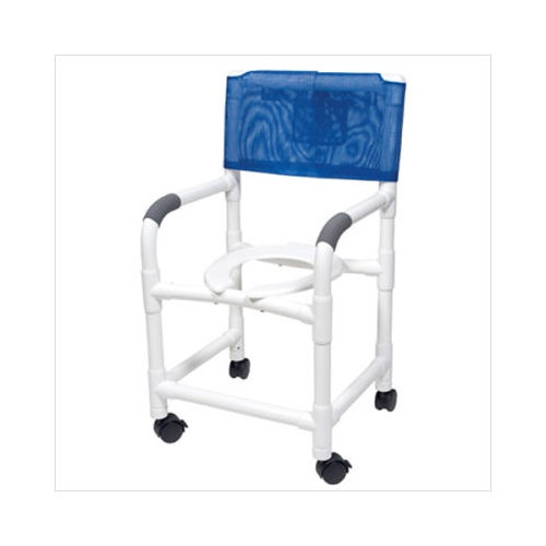 Lumex PVC Shower Commode Chair with Footrest  Walmartcom
