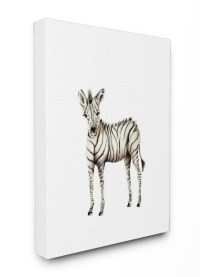 The Kids Room by Stupell Baby Zebra Illustration Stretched ...