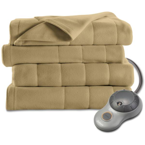 Sunbeam Electric Heated Fleece Blanket Home Indoor Comfortable Adjustable