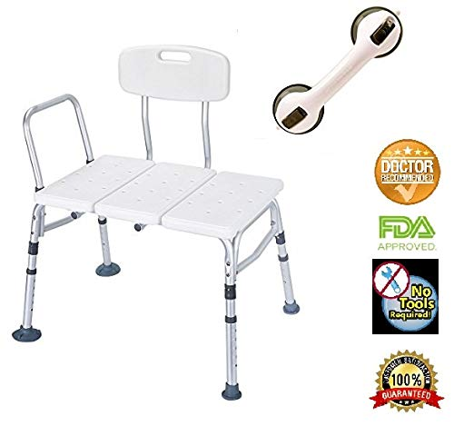 difference between shower chair and tub transfer bench tables chairs rental healthline with back free balance assist suction grab bar plastic