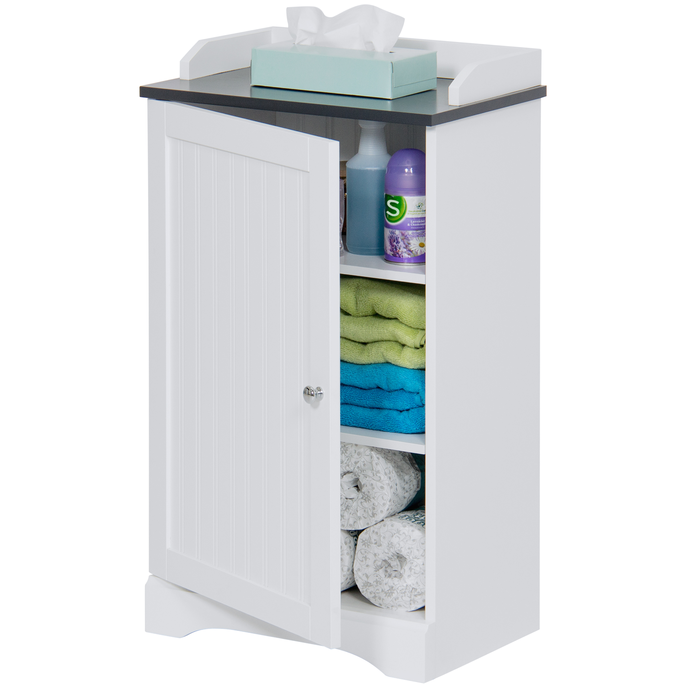 Best Choice Products Bathroom Floor Storage Cabinet W
