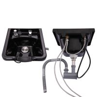 Shampoo Bowl Hair Sink w/Gel Neck Rest Hair Trap Breaker ...