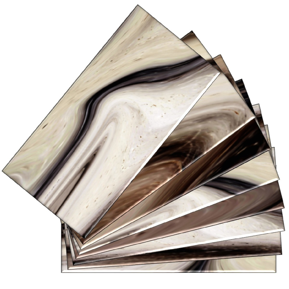 skinnytile 04409 peel and stick earth tone watercolors 6 in x 3 in glass wall tile 48 pack walmart com