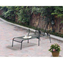 Iron Chaise Lounge Chairs Primitive Chair Pads Mainstays Jefferson Wrought Black Walmart Com