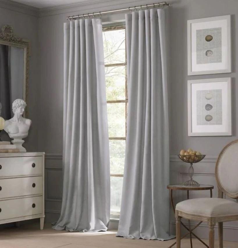valeron estate cotton linen 108 inch window curtain panel in grey