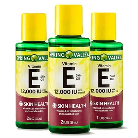 (3 Pack) Spring Valley Vitamin E Skin Health Moisturizer, 12000 IU, 2 Oz