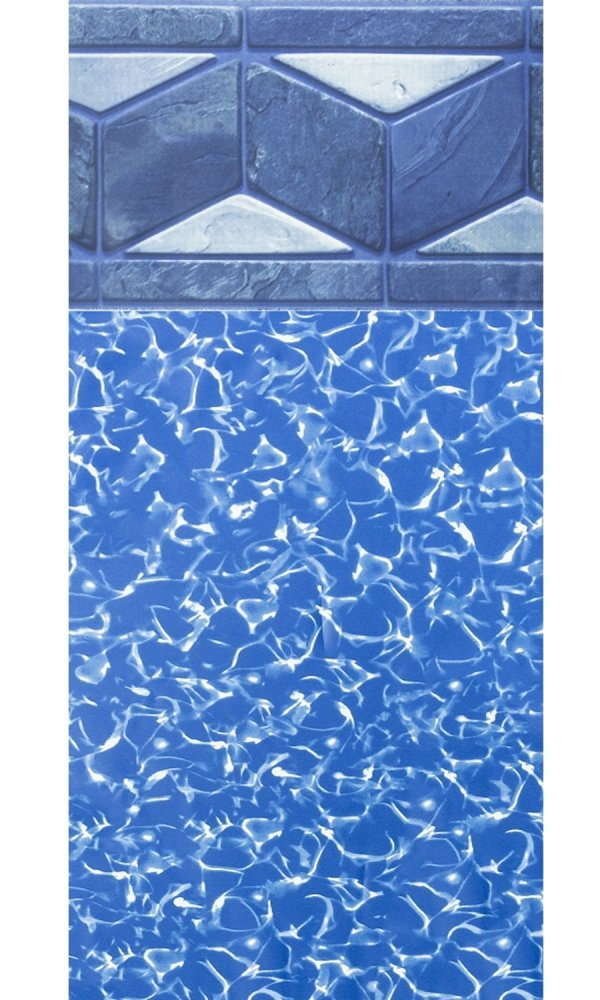 15-foot-24-foot Oval Tuscan Unibead Above-ground Swimming Pool Liner - 48- Wall Height