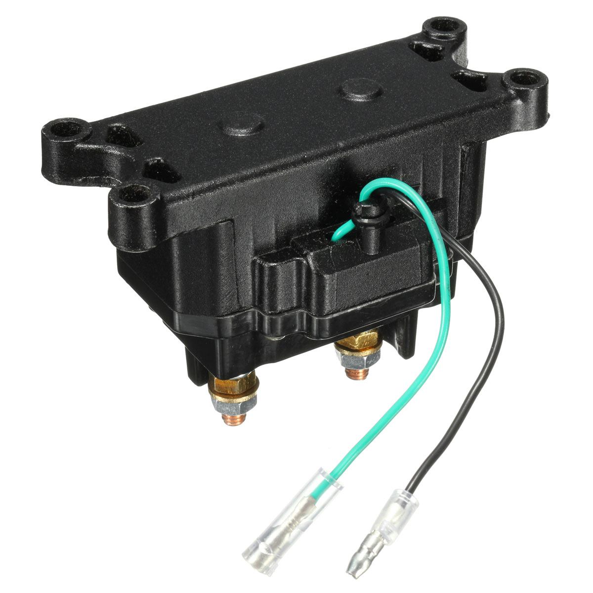 hight resolution of 12v 250a atv utv solenoid relay contactor winch rocker thumb switch wiring combo walmart com