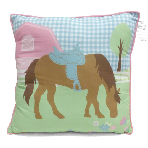 Mainstays Kids Decorative Pillow Country Meadows Horse