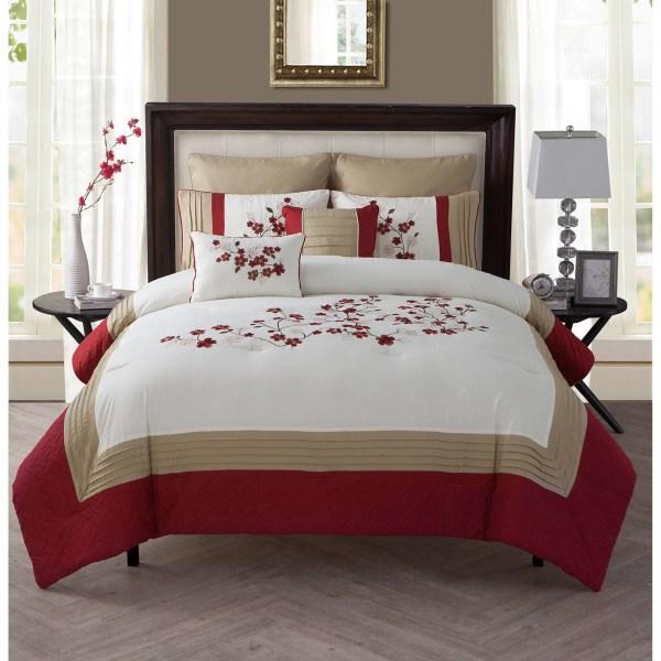 Homes And Gardens Cherry Blossom 7 Piece Comforter Set