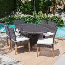 Christopher Knight Home Santa Barbara Outdoor 7-piece Oval