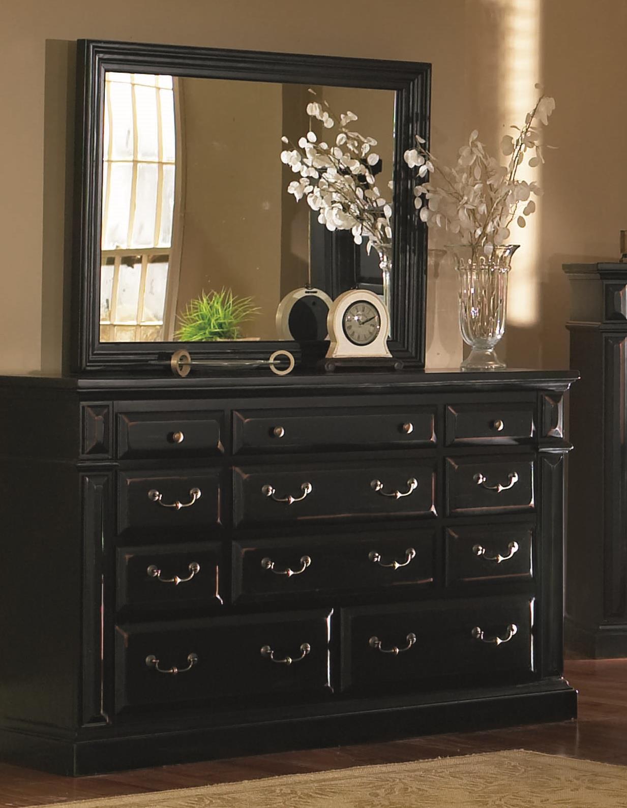 Drawer Dresser And MirrorFinishAntique Black  Walmartcom