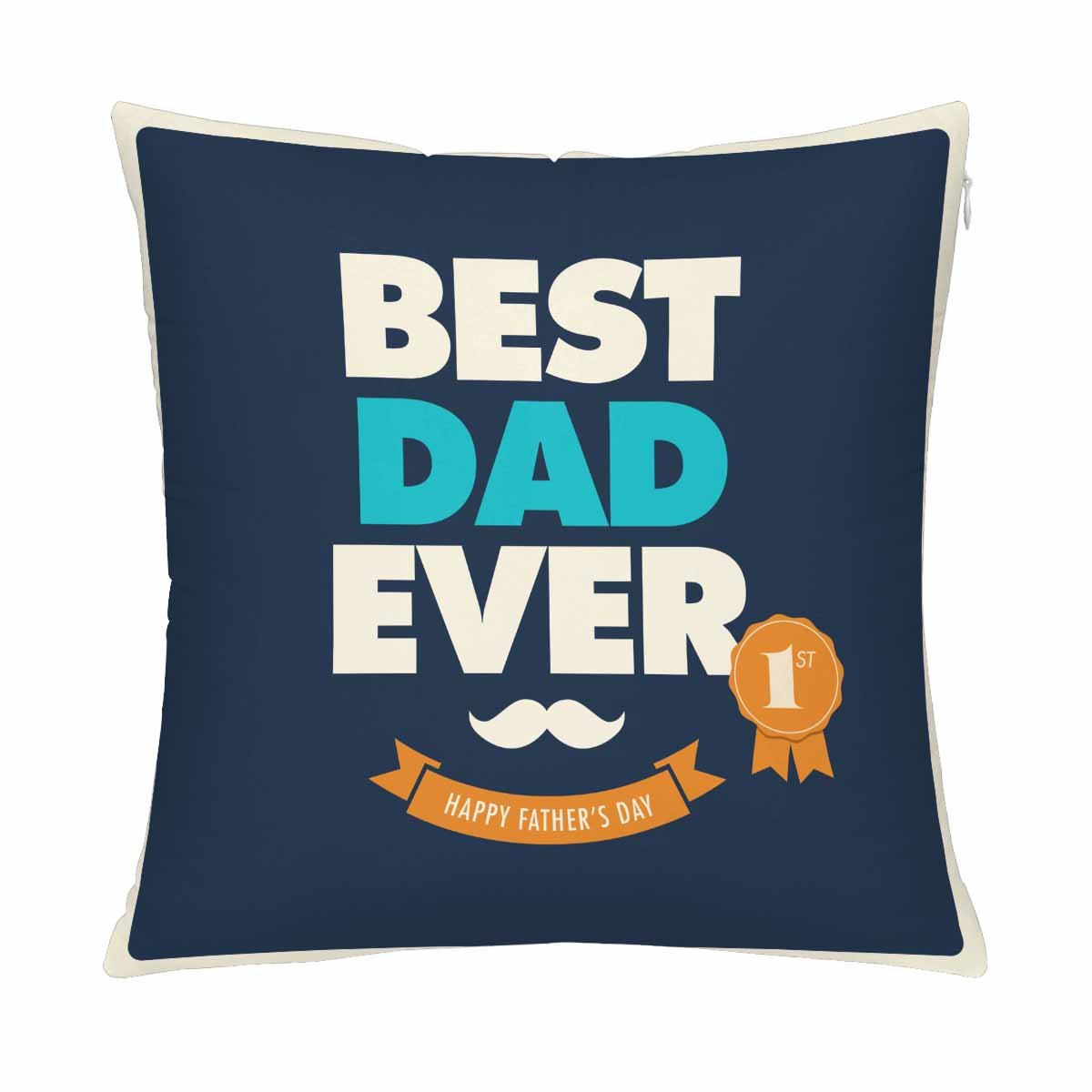 mkhert fathers day card best dad ever pillow covers pillowcase throw pillows 18x18 inch