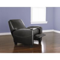 Black Contemporary Home Theater Recliner Movie Seats
