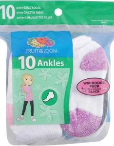 Value pack ankle socks pairs little girls  big walmart also rh