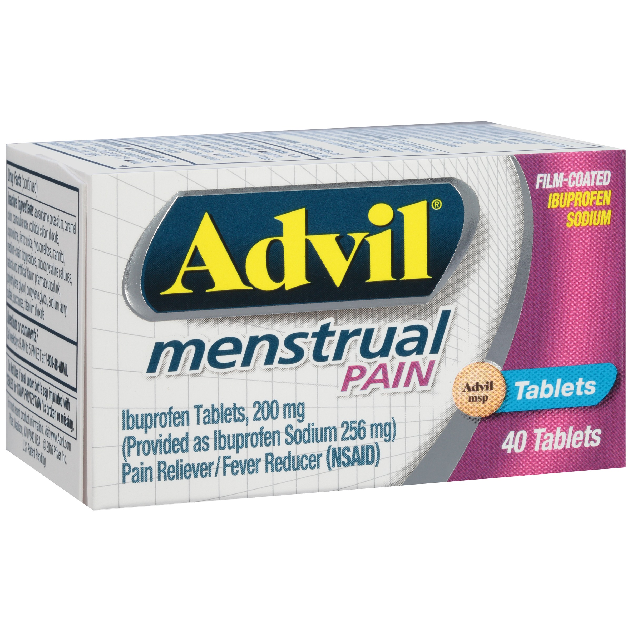 Advil Menstrual (40 Count) Pain Reliever / Fever Reducer ...