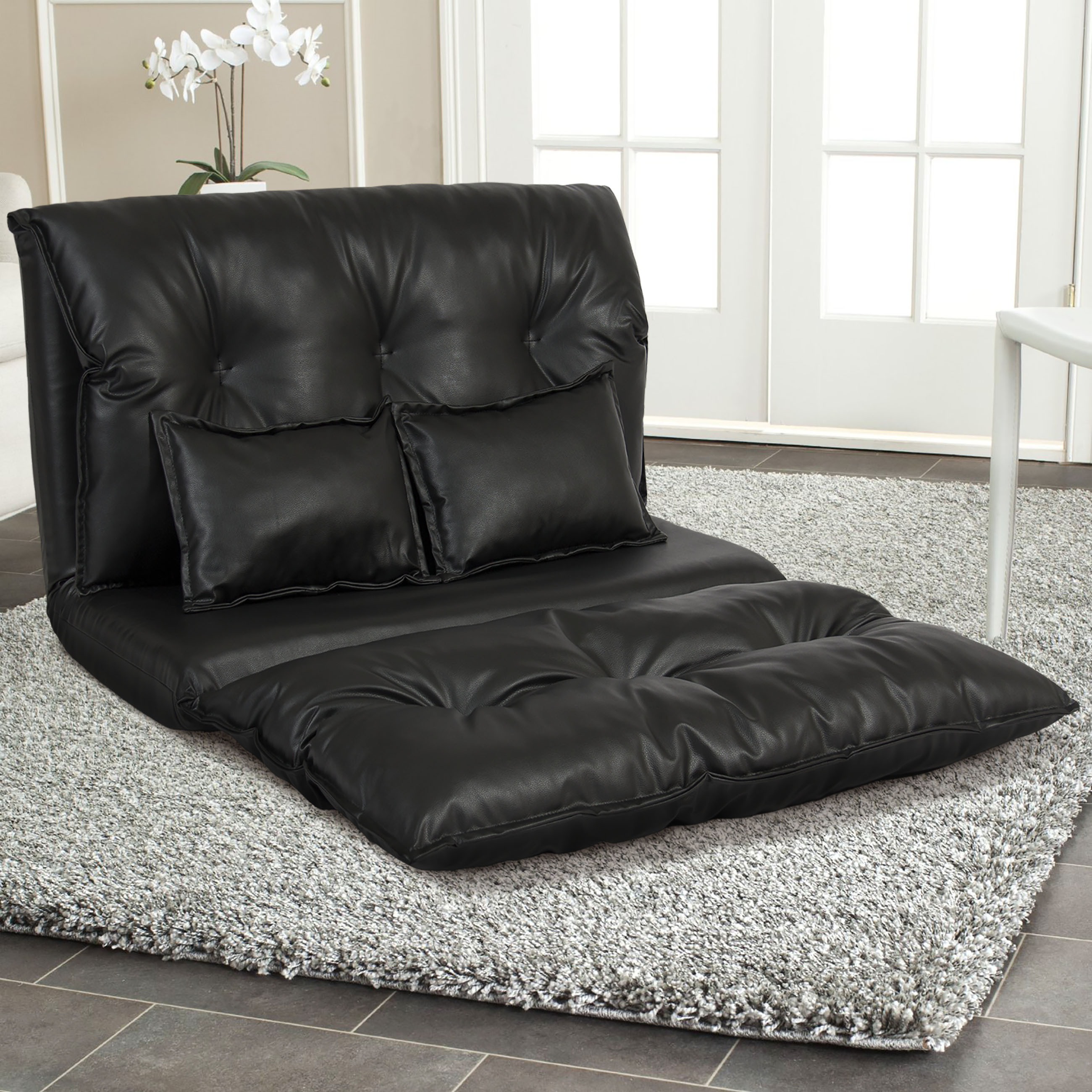 Folding Couch Chair Best Choice Products Faux Leather Folding Chaise Lounge