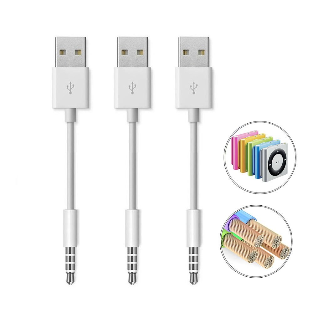 coopsion ipod shuffle charger usb charging cable 3rd 4th 5th 3 pack rh walmart [ 1000 x 1000 Pixel ]
