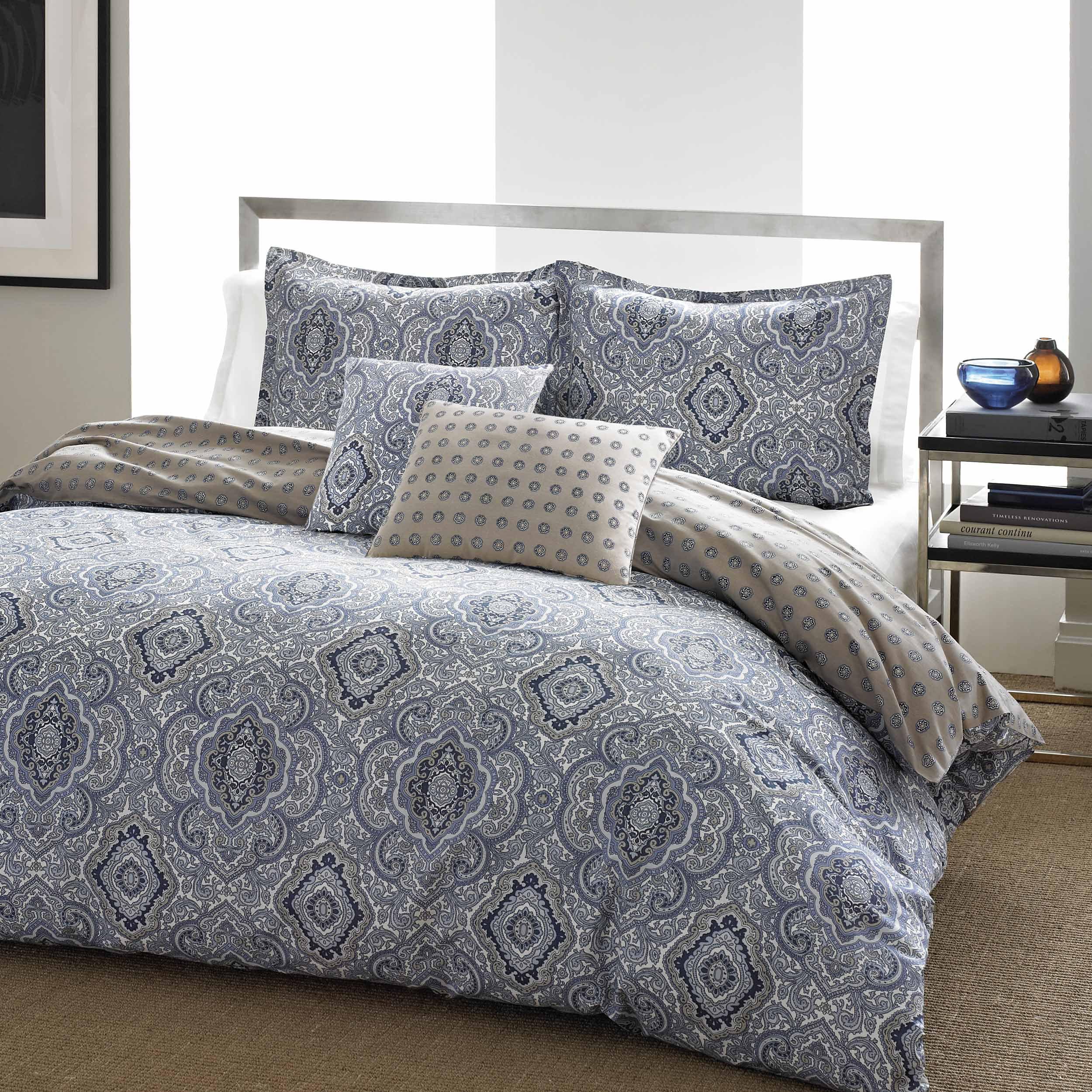 city scene milan blue comforter set full queen