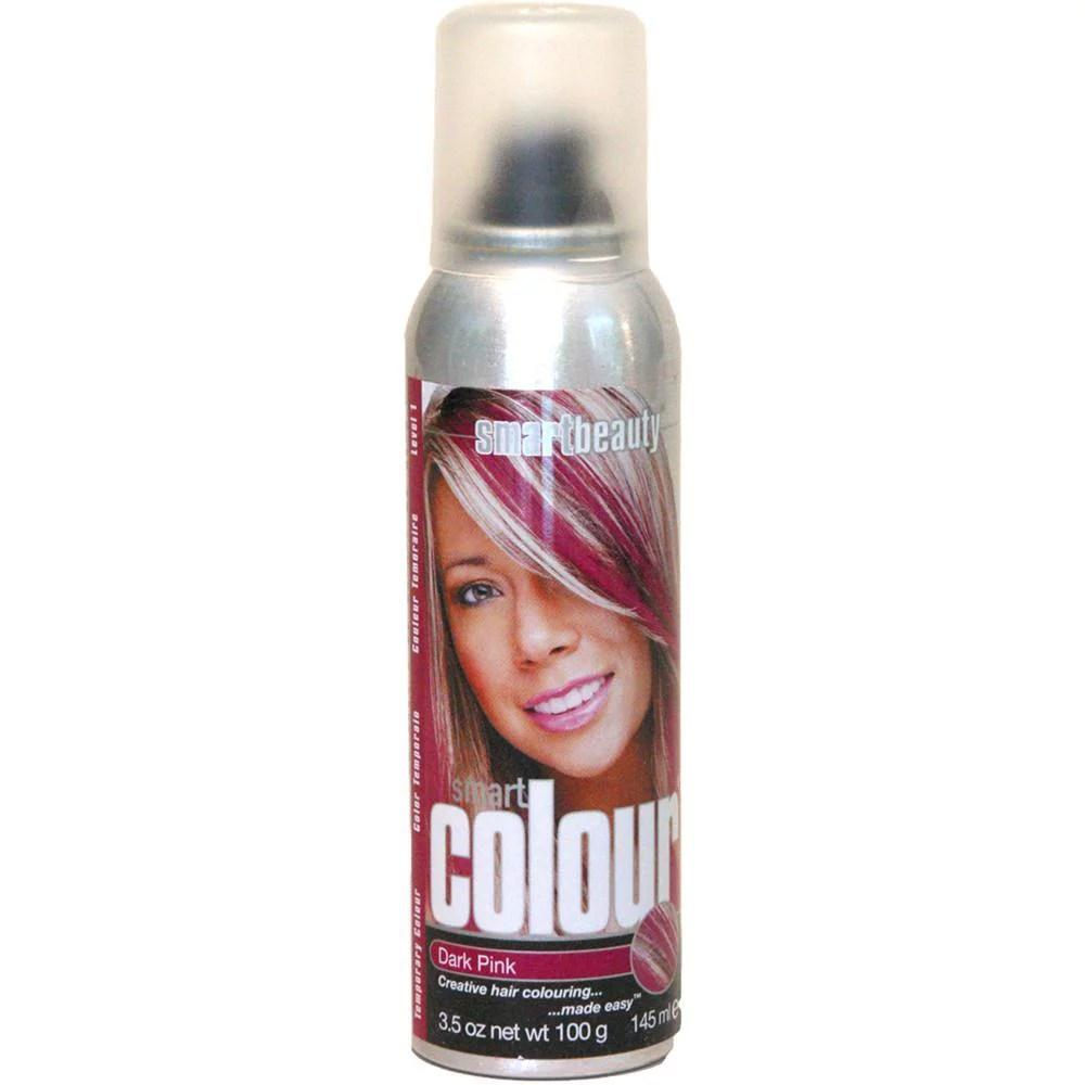 dark pink temporary hair color