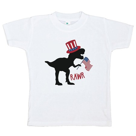 Custom Party Shop Kids Dinosaur 4th of July T-shirt - 2T