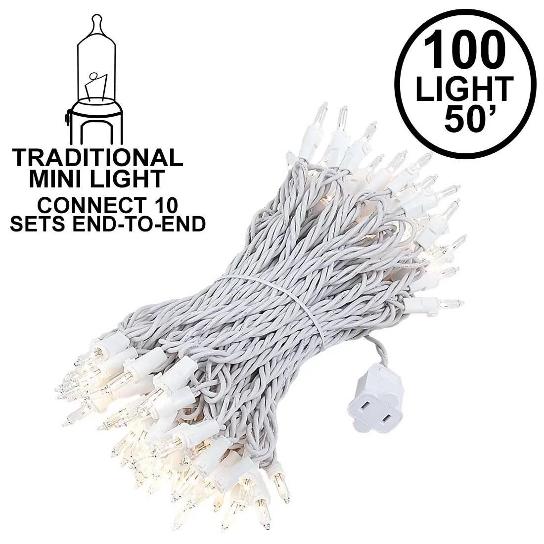 Novelty Lights 100 Light Heavy Duty Clear Christmas