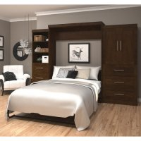 Bestar Queen Storage Murphy Bed - Walmart.com