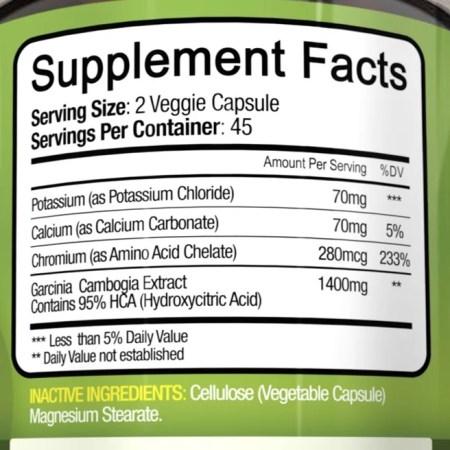 NutriFlair 95٪ HCA Pure Garcinia Cambogia، 90 كبسولة نباتية - 1400 مجم لكل وجبة NutriFlair 95٪ HCA Pure Garcinia Cambogia، 90 كبسولة نباتية – 1400 مجم لكل وجبة 2b0e183b 1854 456d 8f43 30cc9493f80a 1