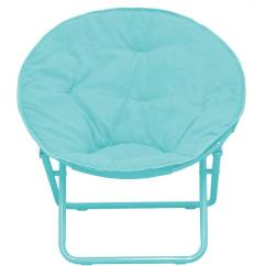 Saucer Chair For Kids High Quality Folding Lawn Chairs American Solid Faux Fur Multiple Colors Walmart Com