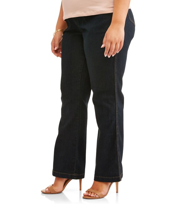 Size - Women' 4 Pocket Stretch Bootcut Jeans Regular And Petite
